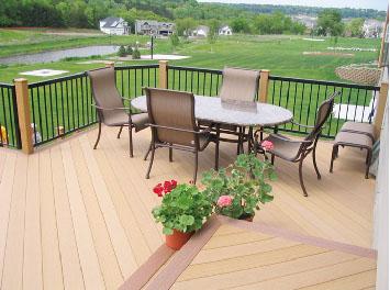 阳台塑木地板